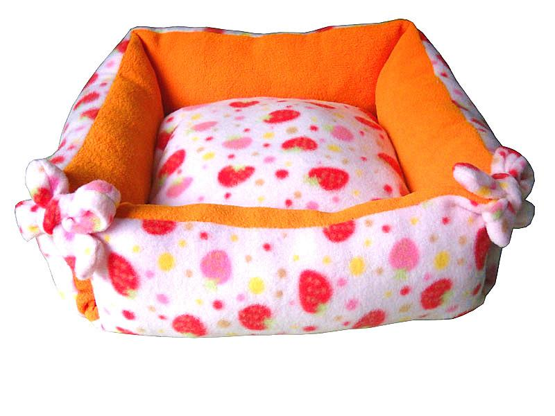 Bowknot Tied Square Pet Bed