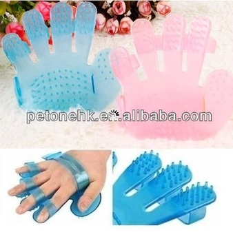 Pet Shower Bath Hand Shape Glove Comb